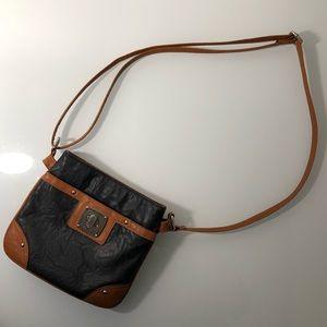 Rosetti purse shoulder bag black brown
